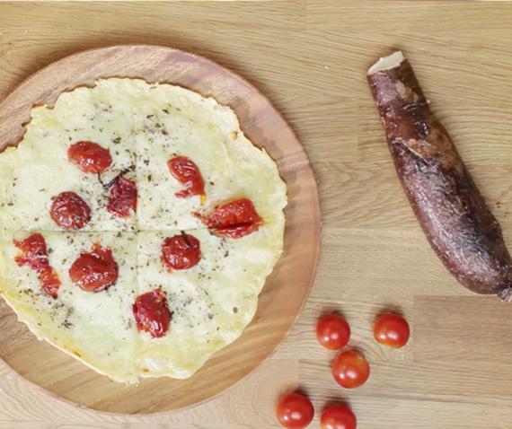 Receta Flat Bread de Yuca con Tomates Rostizados